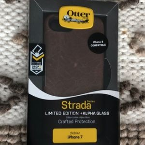 OtterBox Accessories - OtterBox LEATHER w/Alpha Glass Case iPhone 7 & 8